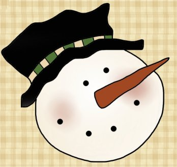 Crochet Pattern: Whimsy Snowman Applique