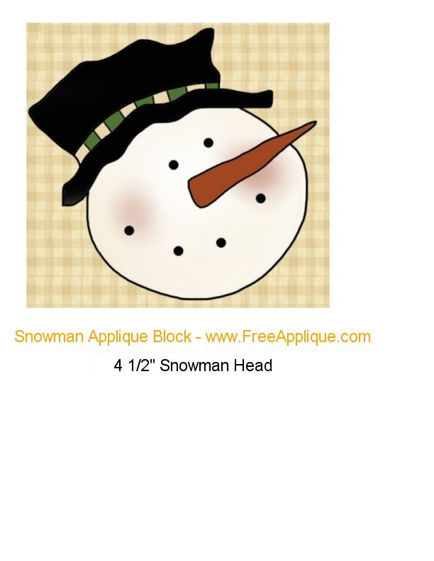 Snowman Applique Block