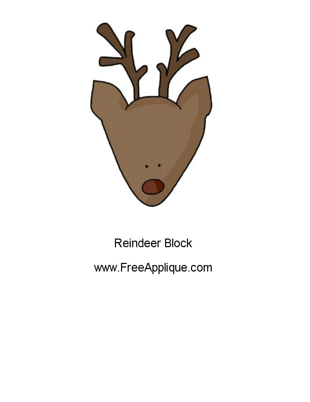 Reindeer pattern free applique patterns