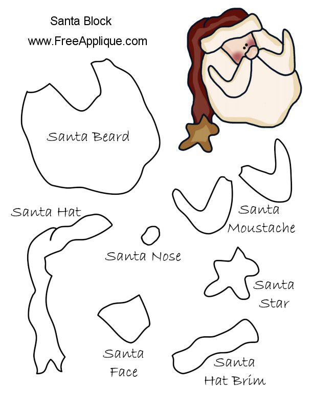 Santa Pattern Printable Santa Pattern And Quilt Block