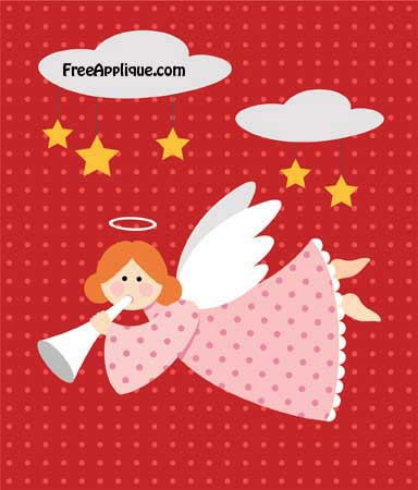 Angel Pattern for Applique