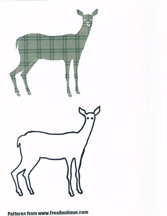 Embroidery.com: Deer Appliqué: Individual Designs