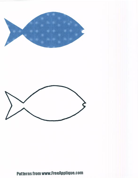 free fish template