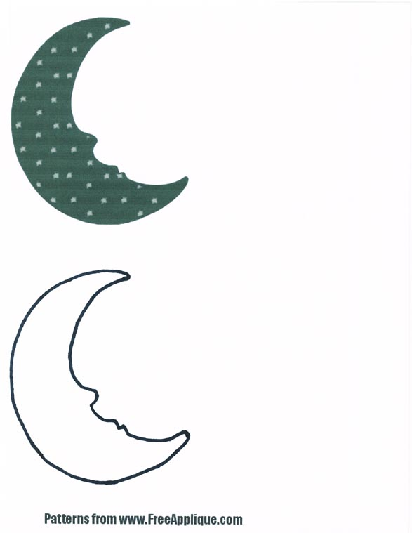 Moon Sun Shapes Patterns For Applique Quilts
