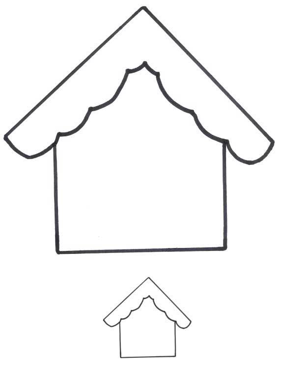 Bird House Applique Patterns - FreeApplique.com