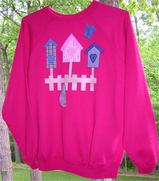 Free Patterns and Directions to Embellish Sweatshirts and Tee