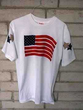 Flag T-Shirt applique pattern