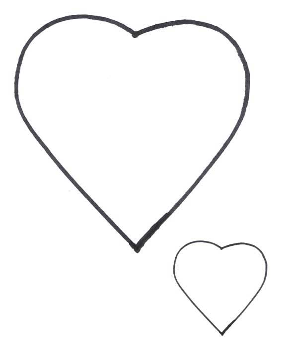 Heart Shapes - Heart Patterns for Applique - FreeApplique.com