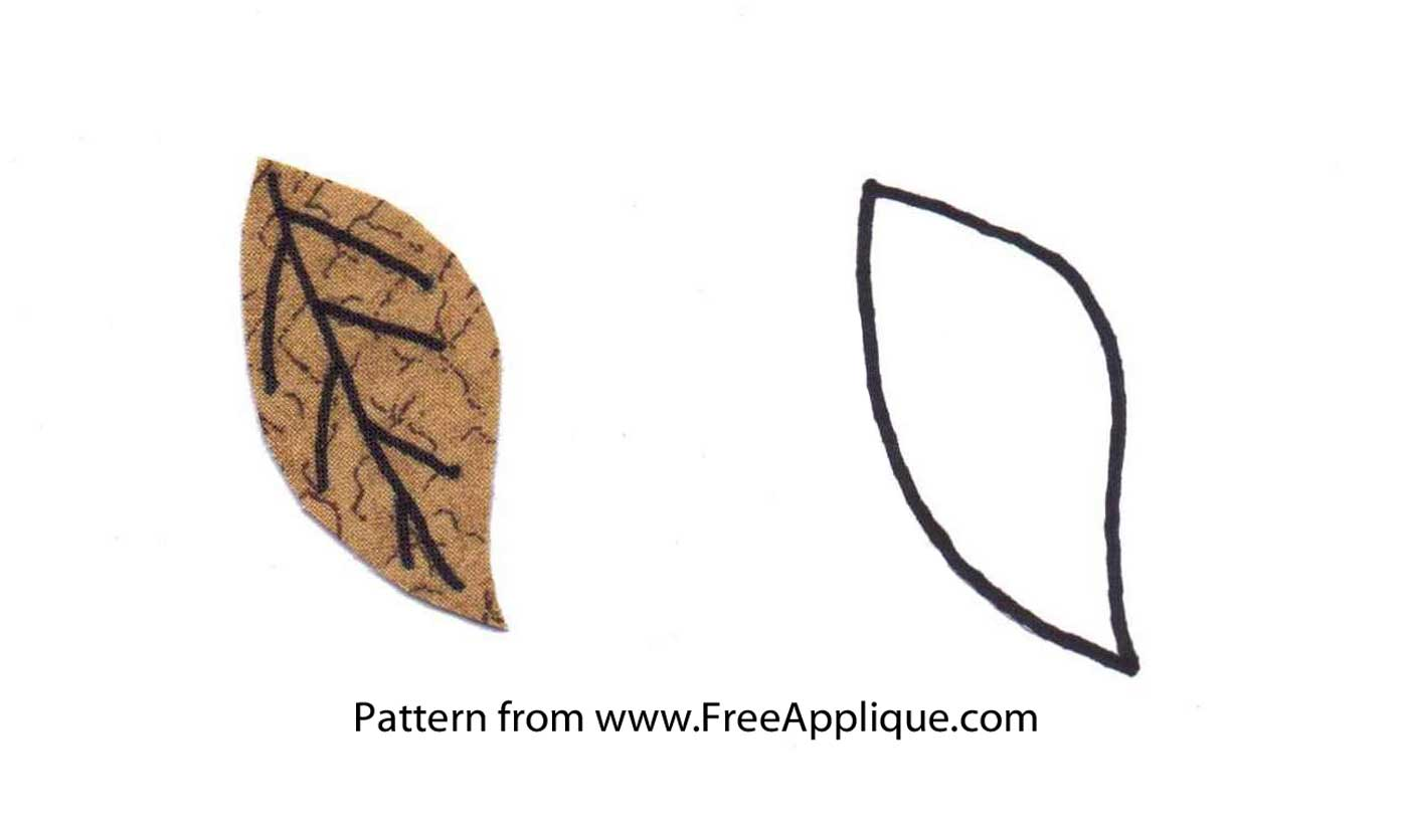 Printable Leaf Patterns For Applique Quilting Crafts Or
