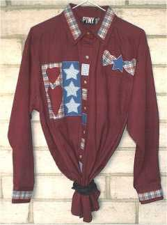 Maroon Applique Shirt - Applique clothing patterns