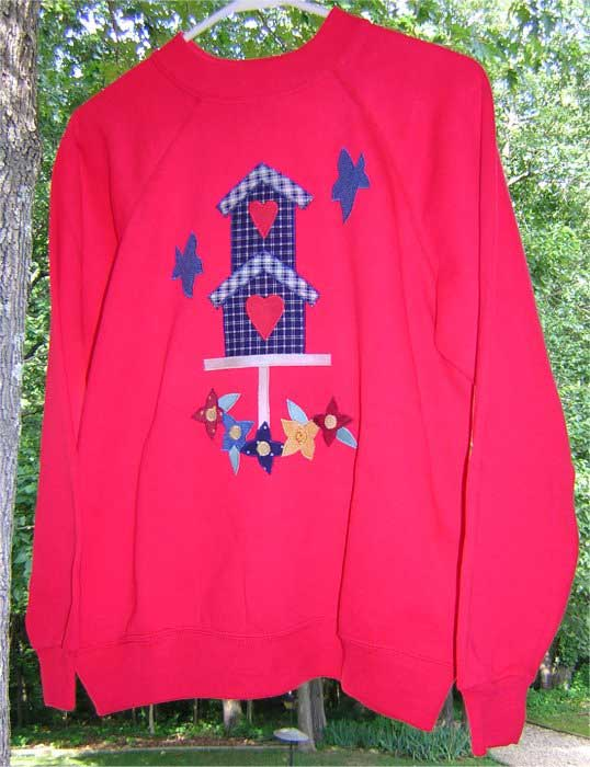 Birdhouse Sweatshirt Pattern - Free Applique Patterns
