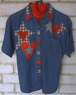 Lots O' Red Shirt appliques - Craft projects
