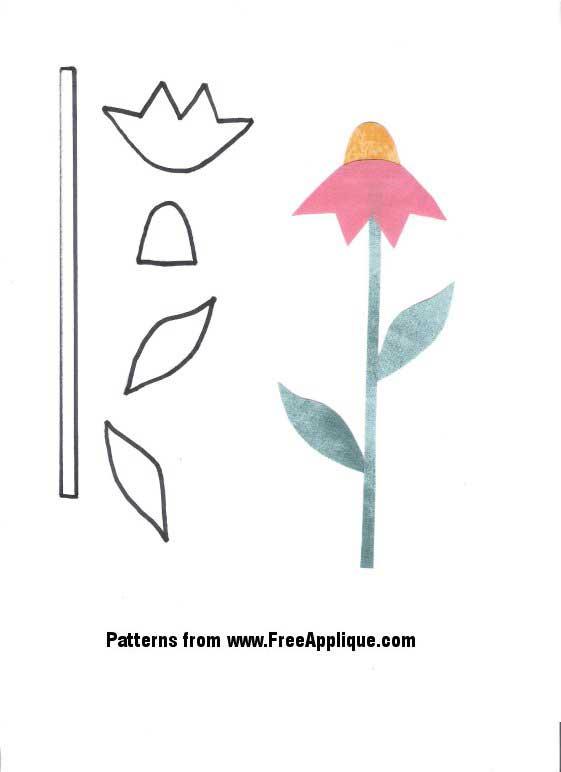 Flower Pattern Template Flower Pattern For Applique