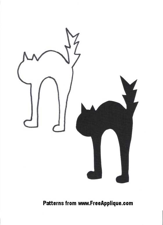Halloween craft patterns for Black cat templates for halloween
