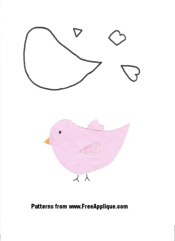 24 Bird Patterns Free Patterns for Quilting Applique – Bird Template