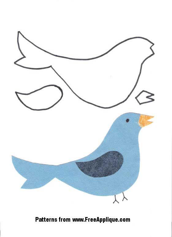 24 Bird Patterns Free Patterns for Quilting Applique – Bird Template