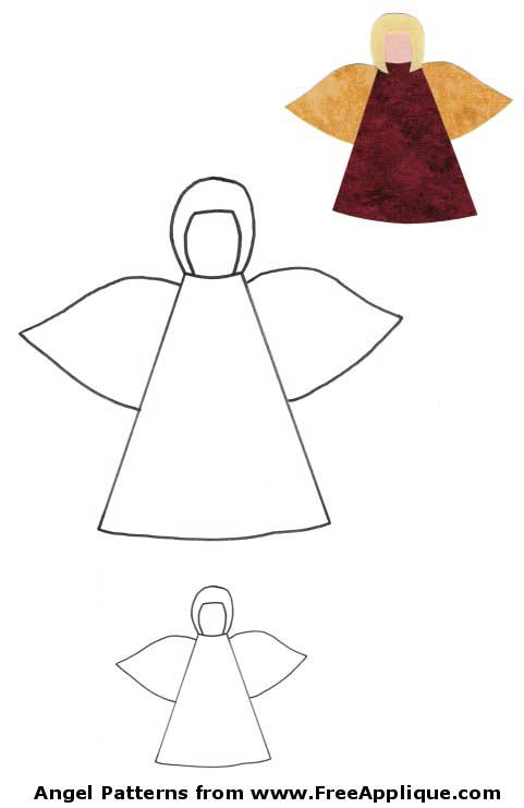 Free Christmas Angel Applique Patterns