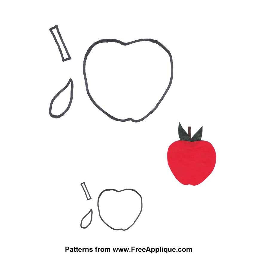 Fruit Patterns, Shapes for Applique, Quilting, Clip Art