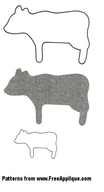 Barnyard Animal Patterns - FreeApplique.com : cow quilt block - Adamdwight.com