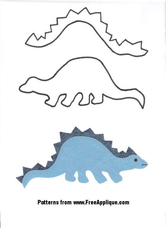 Dinosaur Patterns - Free Applique Patterns