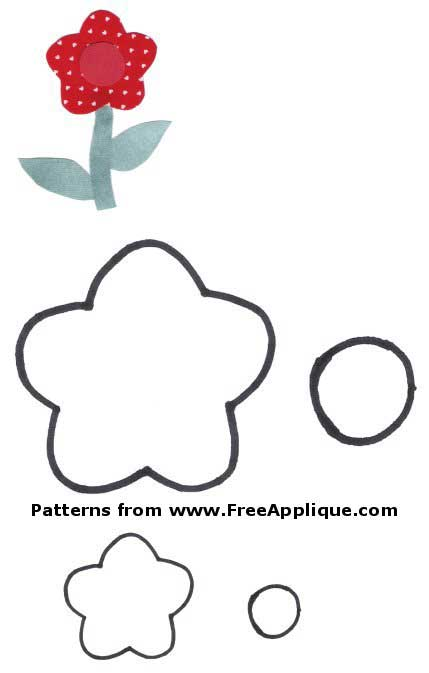 graphic regarding Free Printable Flower Applique Patterns named 23 Flower Behavior -