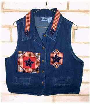 Lone Star Vest - Applique patterns free for quilting