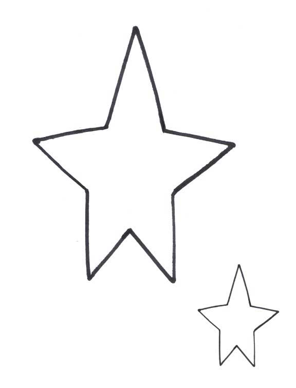 It is a photo of Printable Stars Shapes regarding template