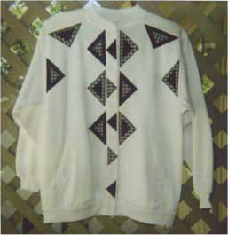 Sewing machine applique patterns - Triangle Sweatshirt Jacket