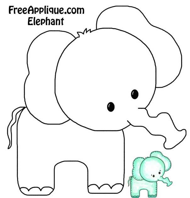 Printable Patterns Elephant Quilt Block