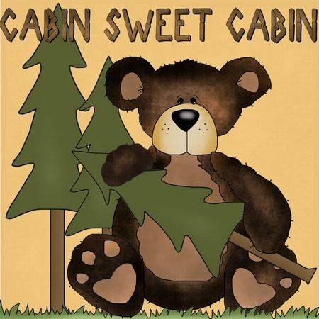 """Cabin Sweet Cabin"" Free Appliqué Pattern from Free Appliqué Patterns"