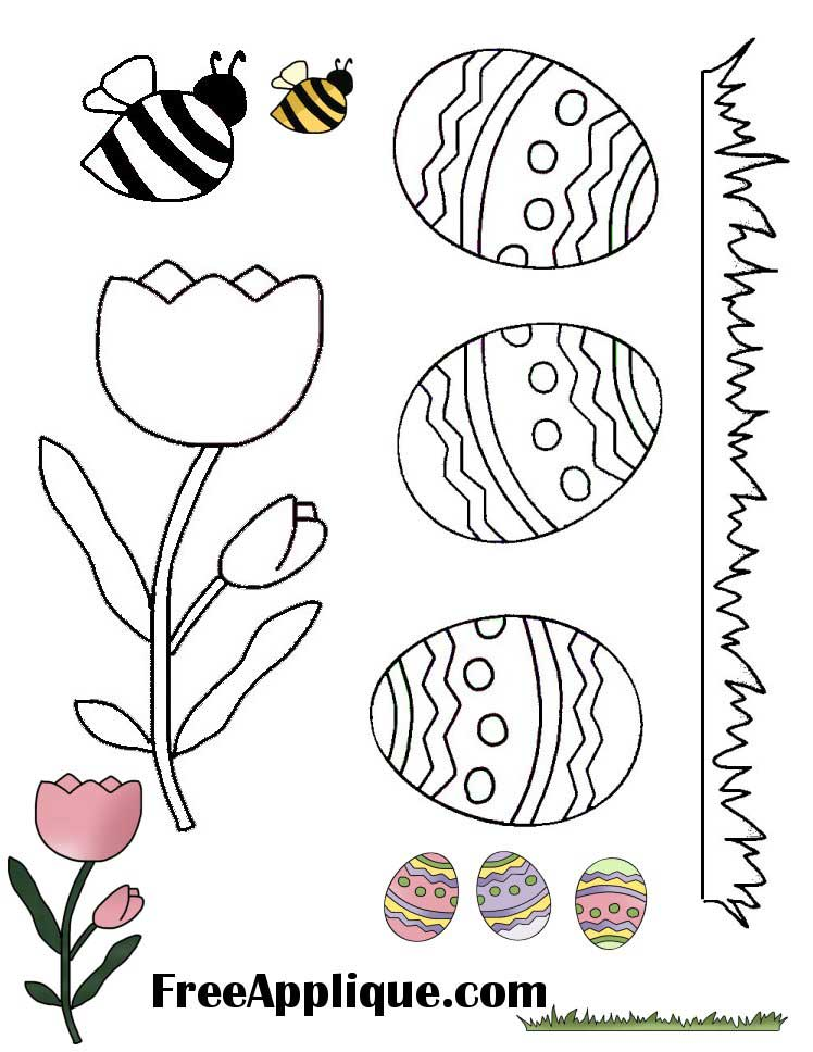 Easter Applique Patterns