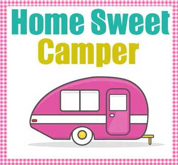 Home Sweet Camper Applique Pattern