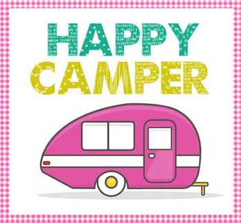Happy Camper Applique Pattern