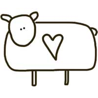 Barnyard Ewe With Heart