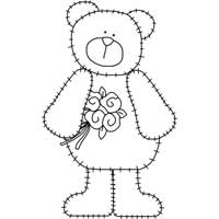 photo about Printable Teddy Bear Pattern known as Teddy Go through Routines for Applique -