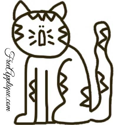 picture about Free Printable Cat Quilt Patterns identified as 14 Cat Models - Free of charge Applique Designs