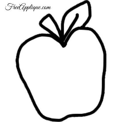 fruit patterns shapes for applique quilting clip art
