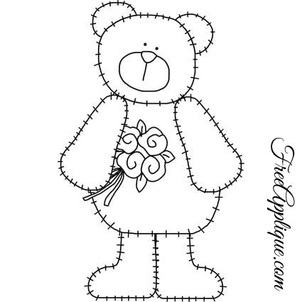 Teddy Bear Patterns For Applique FreeApplique Impressive Teddy Bear Patterns