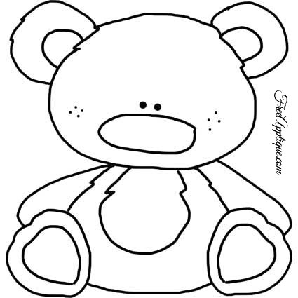 Teddy Bear Patterns for Applique - FreeApplique.com