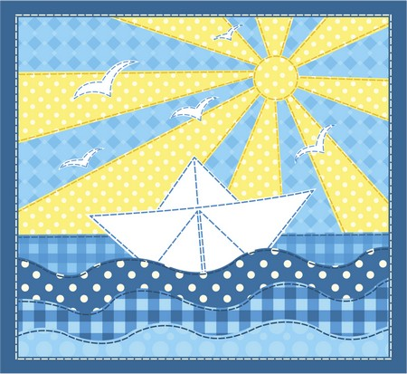 Sail Away Boat Applique Patterns