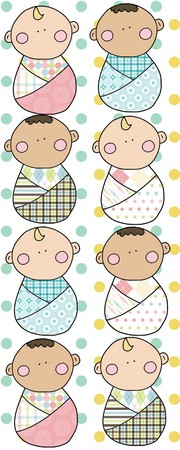 Swaddled Baby Applique Patterns