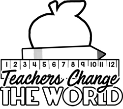 Teachers Change the World Applique Pattern - Sewing Pattern