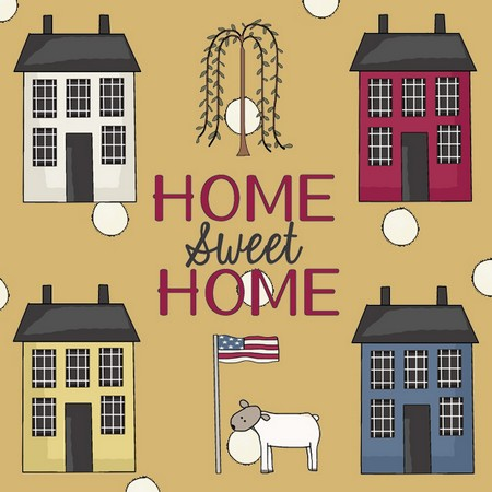 """""""Home Sweet Home"""" is a Free Appliqué Pattern from Free Appliqué Patterns"""